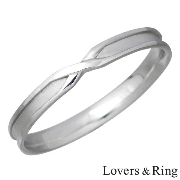 Lovers & Ring【ラバーズリング】 K10 ホワイトゴールド リング 指輪 5~23号 刻印可能 LSR-0661WG
