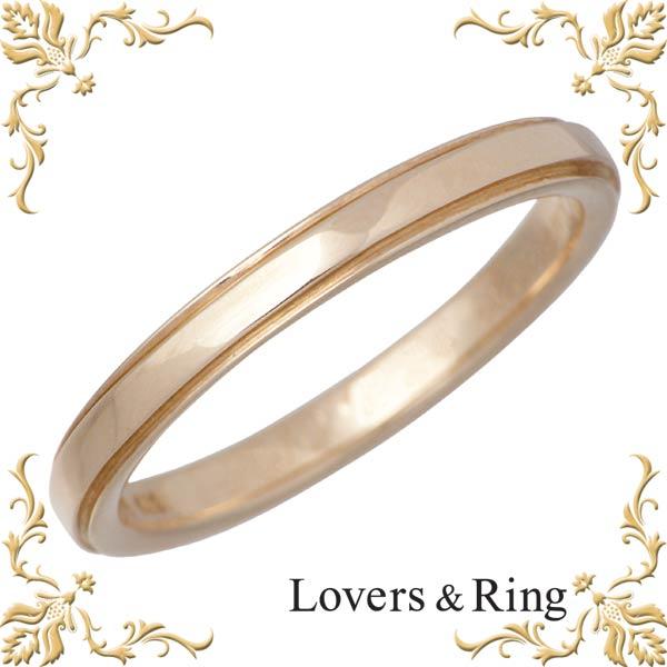 Lovers & Ring【ラバーズリング】 刻印可能 K10 ピンクゴールドリング 指輪 5~23号 LSR-0671PK