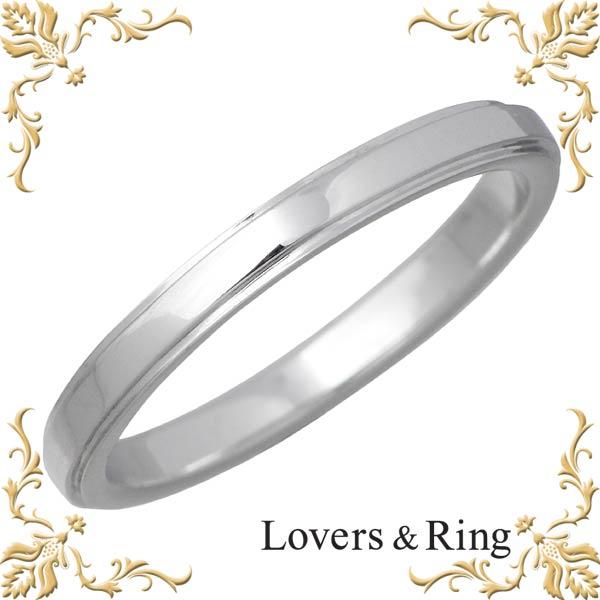 Lovers & Ring【ラバーズリング】 刻印可能 K10ホワイトゴールドリング 指輪 5~23号 LSR-0671WG