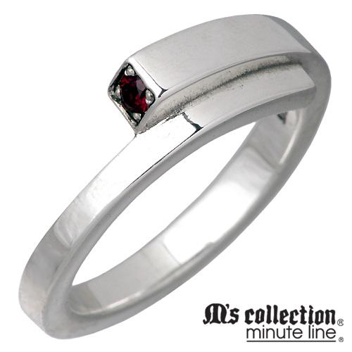 M's collection【エムズコレクション】 ルビー シンセティック シルバー リング メンズ 15~21号 指輪 アクセサリー シルバー925 スターリングシルバー RYO-173RBG