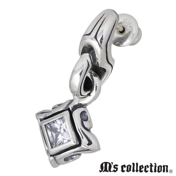M's collection【エムズコレクション】 シルバー ピアス アクセサリー ストーン 1個売り 片耳用 シルバー925 スターリングシルバー 4S3X0285