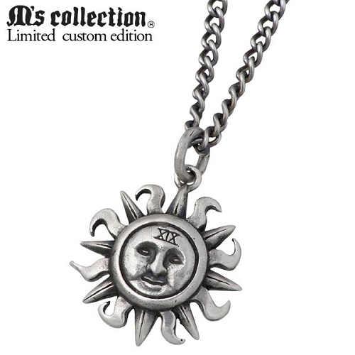 M's collection X Sies【エムズコレクション】 別注モデル 太陽 シルバー ネックレス アクセサリー 誕生石 シルバー925 スターリングシルバー AA-132BD
