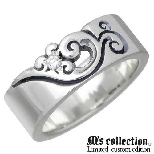 M's collection X Sies【エムズコレクション】 別注モデル シルバー リング ダイヤモンド レディース フェザー 羽 指輪 アクセサリー 7~13号 シルバー925 スターリングシルバー MC-376D