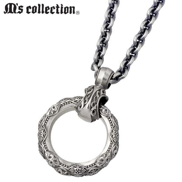 M's collection【エムズコレクション】 リング型 シルバー ネックレス アクセサリー メンズ シルバー925 スターリングシルバー S0005