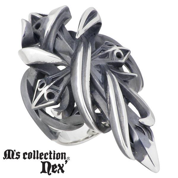 M's collection nex'【エムズコレクション】 シルバー クロス リング 十字架 メンズ 指輪 17~23号 シルバーアクセサリー シルバー925 X0247