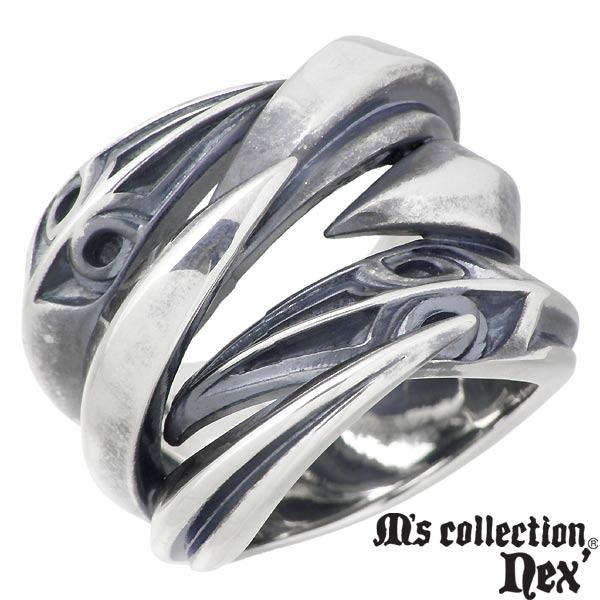 M's collection【エムズコレクション】 シルバー クロー リング 爪 メンズ 指輪 アクセサリー 17~23号 シルバー925 スターリングシルバー X0250