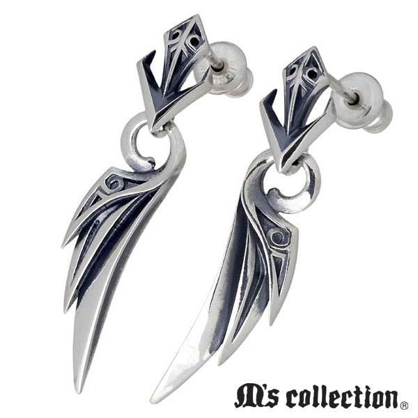 M's collection【エムズコレクション】 テンタクルス ウィング シルバー ピアス アクセサリー 2個売り 両耳用 シルバー925 スターリングシルバー X0317L-R-P