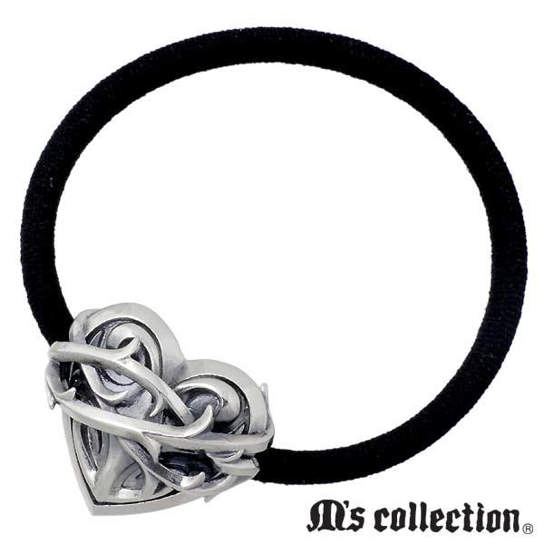 M's collection【エムズコレクション】 シルバー ヘアゴム ハート シルバー925 スターリングシルバー X0326