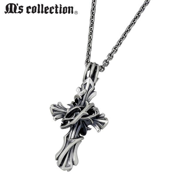 M's collection【エムズコレクション】 シルバー ネックレス メンズ ブランブル クロス 十字架 シルバーアクセサリー シルバー925 XP-015