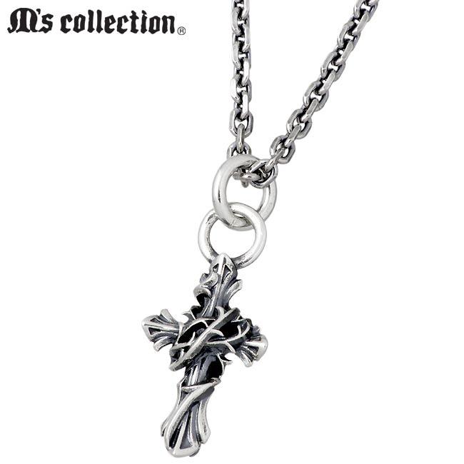 M's collection【エムズ コレクション】 ミニ クロス シルバー ネックレス アクセサリー メンズ レディース 十字架 XP-093