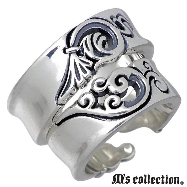 M's collection【エムズ コレクション】フェザー シルバー ペア リング 指輪 7~13号 13~19号 ウイング 羽根 XR-007-008-P