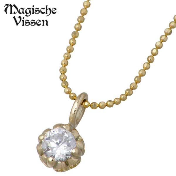 Magische Vissen【マジェスフィッセン】 K10 イエローゴールド ネックレス アクセサリー ストーン 一粒 OZP-022YG