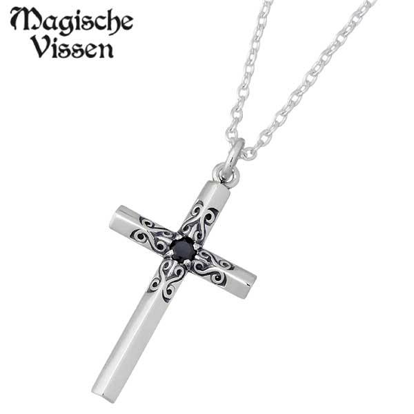 Magische Vissen【マジェスフィッセン】 シルバー ネックレス ストーン クロス リバーシブル シルバーアクセサリー シルバー925 OZP-027