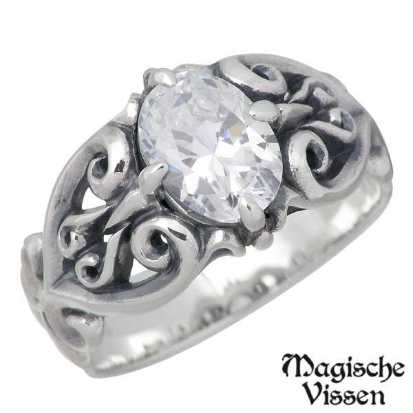 Magische Vissen【マジェスフィッセン】 シルバー リング ストーン 指輪 アクセサリー 5~17号 シルバー925 スターリングシルバー OZR-002