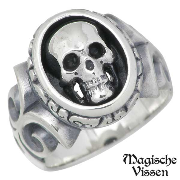 Magische Vissen【マジェスフィッセン】 シルバー リング スカル 指輪 3~20号 シルバーアクセサリー シルバー925 OZR-009