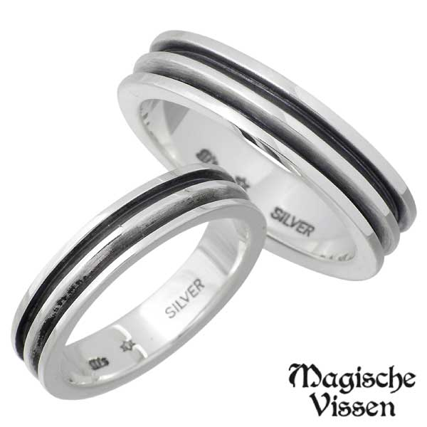 Magische Vissen【マジェスフィッセン】 シルバー ペア リング 指輪 1~25号 1~20号 シルバーアクセサリー シルバー925 OZR-015-016-P