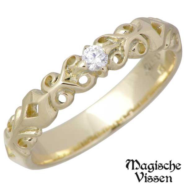 Magische Vissen【マジェスフィッセン】 K5 イエローゴールド リング ストーン レディース 指輪 7~19号 OZR-029YG