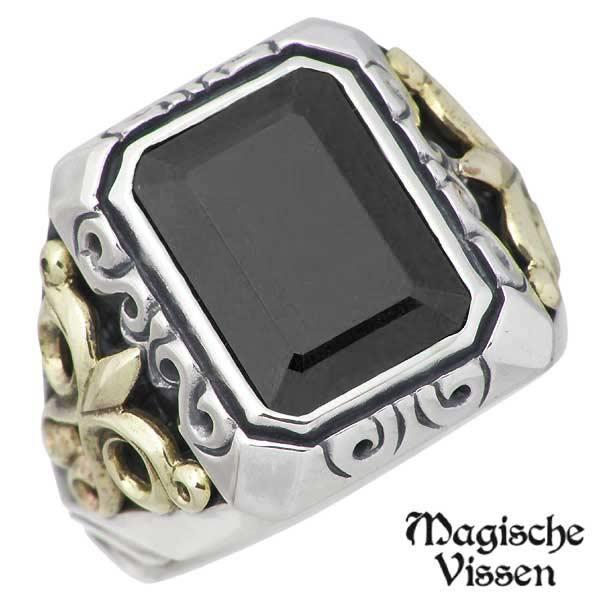 Magische Vissen【マジェスフィッセン】 シルバーx真鍮 リング ストーン 指輪 アクセサリー 10~25号 シルバー925 スターリングシルバー OZR-044CZ