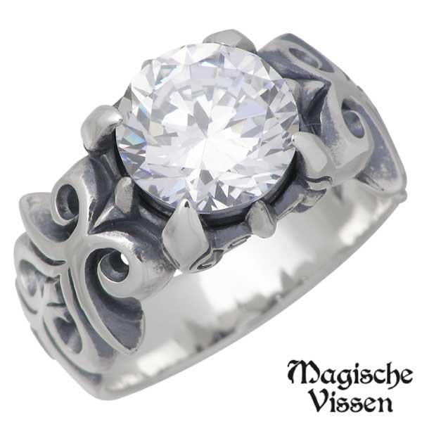 Magische Vissen【マジェスフィッセン】 シルバー リング ストーン 指輪 アクセサリー 10~25号 シルバー925 スターリングシルバー OZR-061
