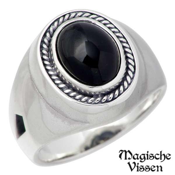 Magische Vissen【マジェスフィッセン】 空に鳥はばたく シルバーx真鍮 リング ストーン 指輪 11~21号 シルバーアクセサリー シルバー925 OZR-079