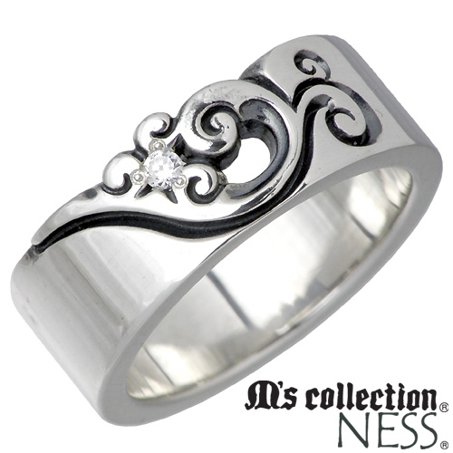 M's collection【エムズコレクション】 キュービック シルバー リング レディース 7~13号 フェザー 羽 指輪 アクセサリー シルバー925 スターリングシルバー MC-376CZ