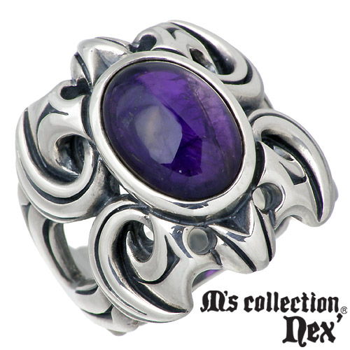 M's collection【エムズコレクション】 ストーン シルバー リング メンズ 15~21号 指輪 アクセサリー シルバー925 スターリングシルバー L-506