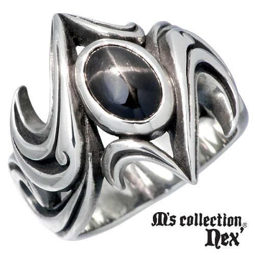 M's collection【エムズコレクション】 ストーン シルバー リング メンズ 15~21号 指輪 アクセサリー シルバー925 スターリングシルバー MAO-005