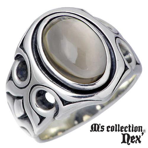 M's collection【エムズコレクション】 ストーン シルバー リング メンズ 15~19号 指輪 アクセサリー シルバー925 スターリングシルバー MC-217