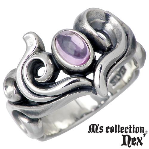 M's collection nex'【エムズコレクション】 ストーン & ハート シルバー リング レディース 7~13号 指輪 シルバーアクセサリー シルバー925 MC-757