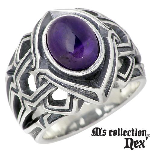 エムズ コレクション M's collection ストーン シルバー リング メンズ 15~21号 スター 指輪 アクセサリー シルバー925 スターリングシルバー X0131