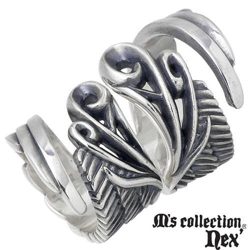 エムズ コレクション M's collection ウィング シルバー ペア リング 指輪 アクセサリー 9~15号 15~21号 シルバー925 スターリングシルバー X0171-0172-P
