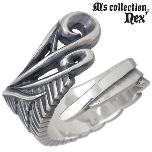 M's collection nex'【エムズコレクション】 ウィング シルバー リング 指輪 15~21号 シルバーアクセサリー シルバー925 X0171