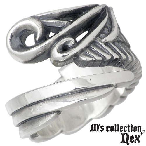 M's collection nex'【エムズコレクション】 ウィング シルバー リング 指輪 9~15号 シルバーアクセサリー シルバー925 X0172