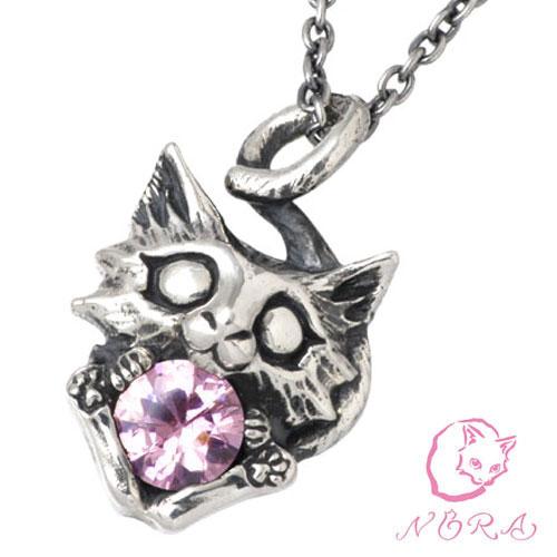 NORA【のら ノラ】 コトタマ シルバー ネックレス チェーン付き 猫 ねこ ネコ シルバーアクセサリー シルバー925 NR-P-0016C