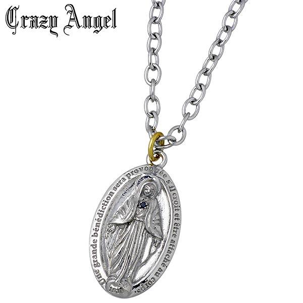 Crazy Angel【クレイジーエンジェル】マリア ステンレス316L ネックレス L ブラックダイヤモンド メンズ リバーシブル CA-631