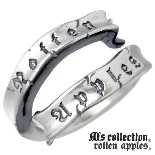 M's collection【エムズコレクション】 リボン シルバー リング 15~21号 メンズ りぼん 指輪 アクセサリー シルバー925 スターリングシルバー RA-002