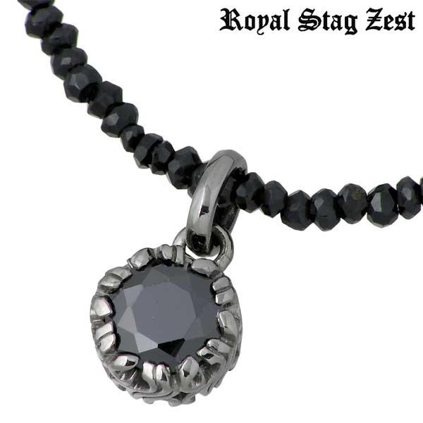 Royal Stag Zest【ロイヤルスタッグゼスト】 シルバー ネックレス アクセサリー ブラックキュービック ブラックスピネル アラベスク シルバー925 スターリングシルバー SN25-017
