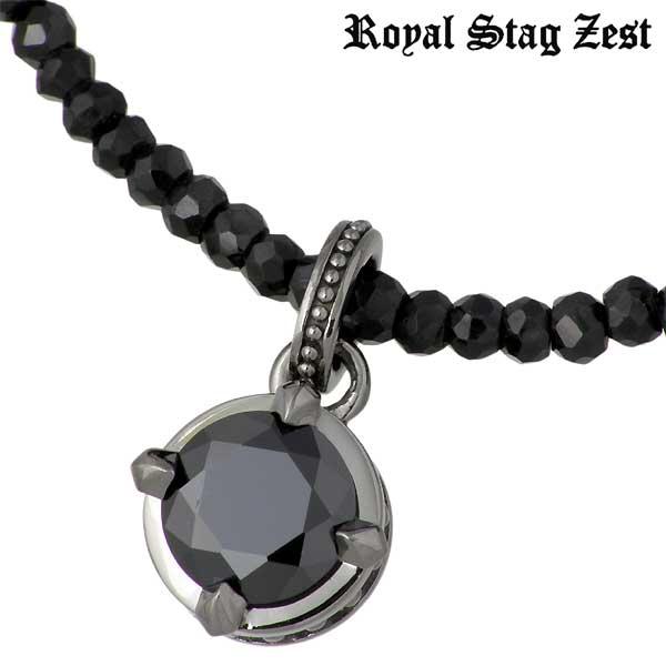 Royal Stag Zest【ロイヤルスタッグゼスト】 シルバー ネックレス アクセサリー ブラックキュービック ブラックスピネル シルバー925 スターリングシルバー SN25-018