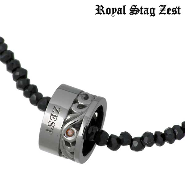 Royal Stag Zest【ロイヤルスタッグ】 シルバー ネックレス レッドダイヤモンド ブラックスピネル アラベスク シルバーアクセサリー シルバー925 SN25-020