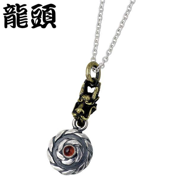 RYUZU【龍頭】 小龍 x ツイスト シルバー ネックレス ストーン 真鍮 ドラゴン シルバーアクセサリー シルバー925 シルバー950 RYUZU-P-223CL60