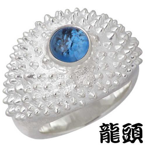 RYUZU【龍頭】 霰 あられ シルバー リング ブルートパーズ 指輪 アクセサリー 14~30号 シルバー925 スターリングシルバー シルバー950 RYUZU-R-103
