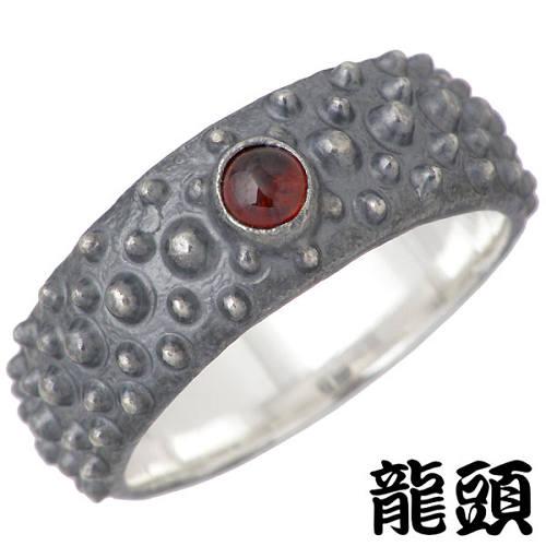 RYUZU【龍頭】 霰 あられ シルバー リング石付き 指輪 アクセサリー 12~28号 シルバー925 スターリングシルバー シルバー950 RYUZU-R-111