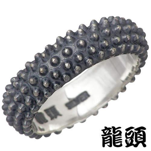 龍頭 RYUZU 霰 あられ スカーフ シルバー リング 指輪 アクセサリー 14号 シルバー925 スターリングシルバー シルバー950 RYUZU-R-90