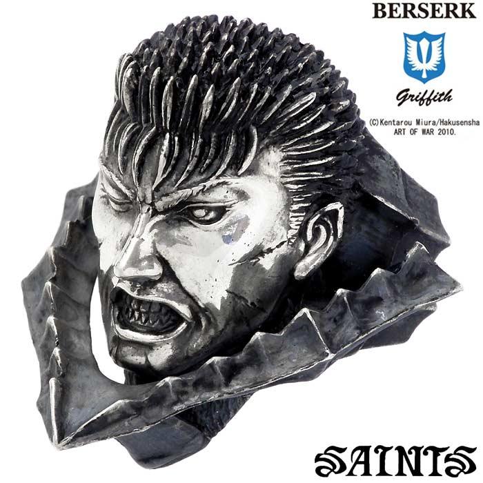 SAINTS【セインツ】 BERSERK×SAINTS ベルセルク ガッツ シルバー リング 指輪 アクセサリー 狂戦士の甲冑 兜なし.ver メンズ 17~25号 BSS-R-02