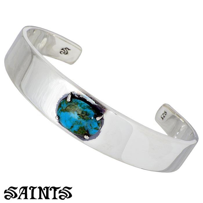 SAINTS【セインツ】 シルバー バングル アクセサリー ターコイズ メンズ SSB-806TQ