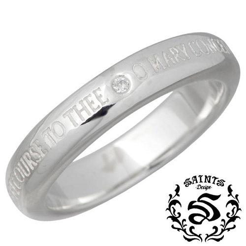 SAINTS【セインツ】 ダイヤモンド マリア シルバー リング 指輪 アクセサリー 9~13号 シルバー925 スターリングシルバー SSR11-109DA