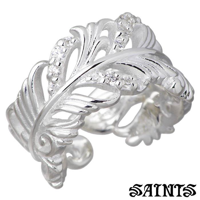SAINTS【セインツ】ジルコニア シルバー リング 指輪 レディース 羽根 9~13号 SSR12-111CLR