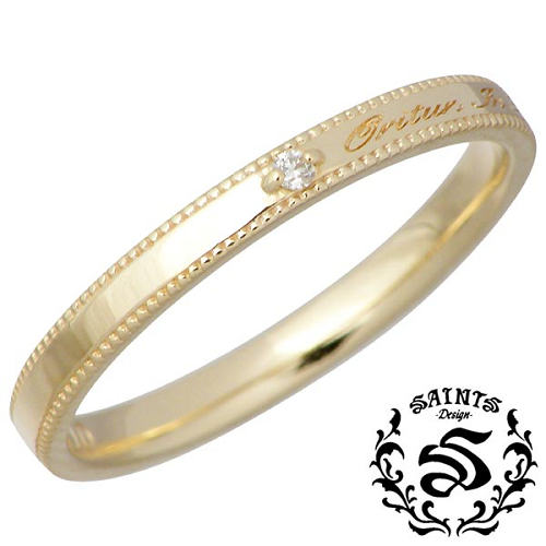 SAINTS【セインツ】 ダイヤモンド メッセージ K10 リング 指輪 アクセサリー 5~13号 SSR2-118D
