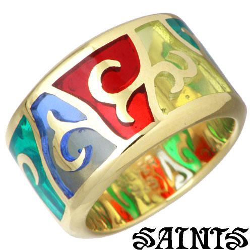 SAINTS【セインツ】 ステンドグラス シルバー リング ゴールド 指輪 シルバーアクセサリー シルバー925 SSR9-76G