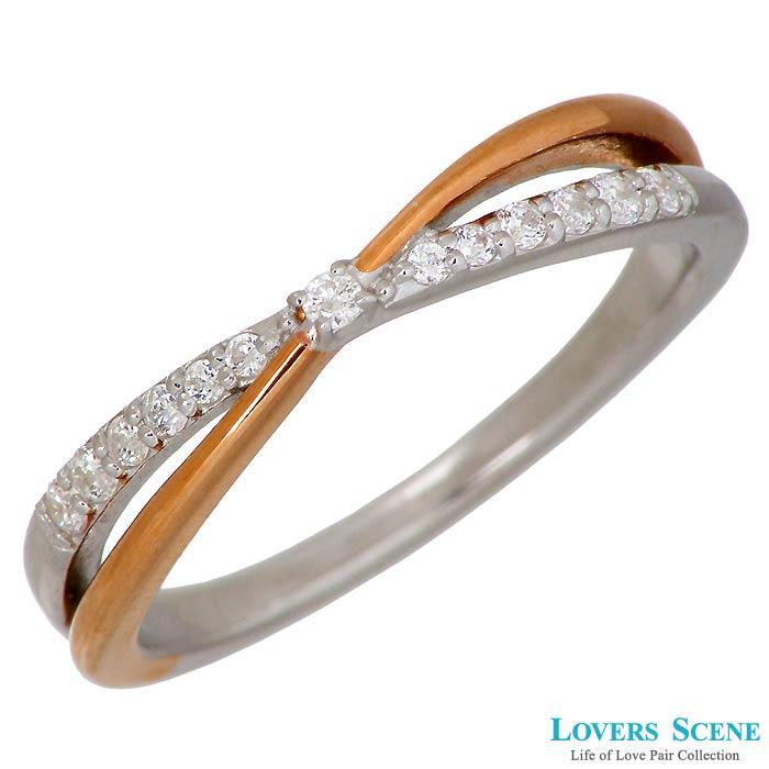 LOVERS SCENE【ラバーズシーン】シルバー リング 指輪 ダイヤモンド キュービック レディース 7~15号 LSR-0126DCZPKRM